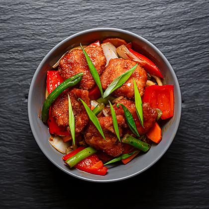 Цыплёнок в Сычуаньском соусе